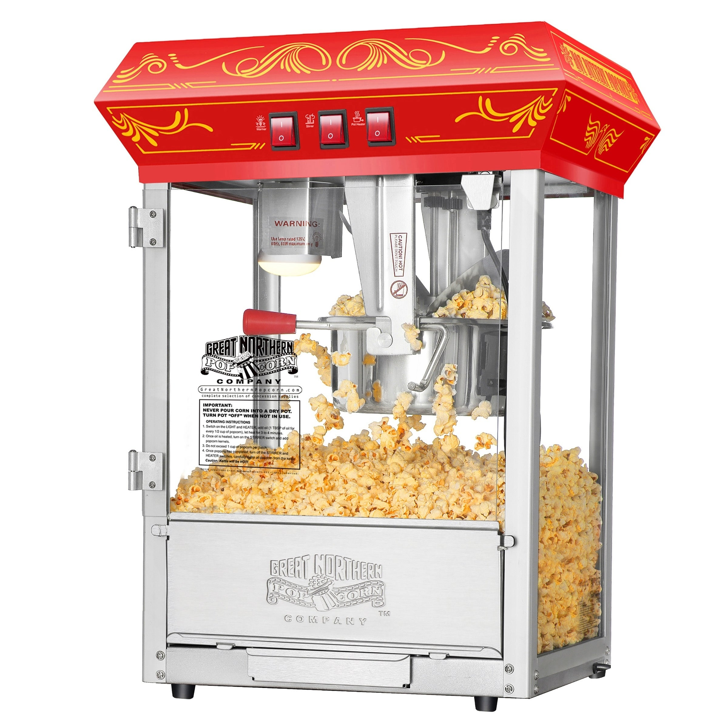 Great Northern Popcorn Red Princeton 8 Ounce Bar Style Antique Popcorn Machine Mimbarschool Com Ng