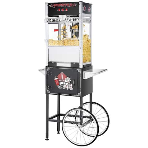 Great Northern TopStar Commercial Popcorn Machine w/ Cart, 12oz - 12 oz