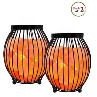 Himalayan Glow Oval Basket Lamp - 2 Pack