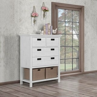Evolur Waverly Tall Chest with Baskets