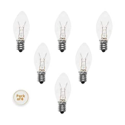 Himalayan Glow Salt Lamps Bulbs - 15 W , 6 Pack