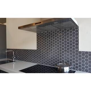Barcelona Hexagon Glazed Porcelain Mosaic Tile Glossy Gray Case Of 10 Sheets Sq