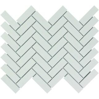 Link to Paris Herringbone Glazed Porcelain Mosaic Tile Matte White Similar Items in Tile