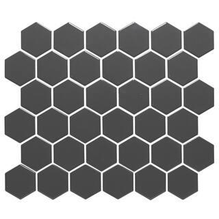 Barcelona Hexagon Glazed Porcelain Mosaic Tile Matte Gray