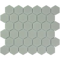 Barcelona Hexagon Glazed Porcelain Mosaic Tile Matte Taupe (Case of 10 sheets / 10 sq. ft.)