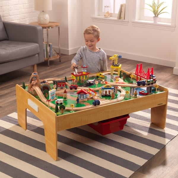 Phenomenal Shop Kidkraft Adventure Town Railway Train Set Table With Frankydiablos Diy Chair Ideas Frankydiabloscom