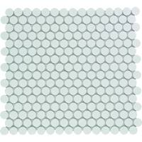 Venice Pennyround Glazed Porcelain Mosaic Tile Glossy Bright White (Case of 10 sheets / 10 sq. ft.)
