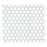 Barcelona Hexagon Glazed Porcelain Mosaic Tile Matte White (Case of 10 sheets / 8.5 sq. ft.)