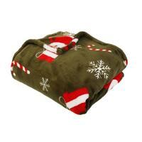 50x60 Charly Christmas Santa Loft Fleece Decorative Throw