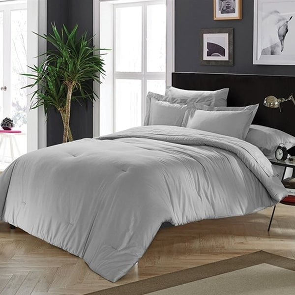 Shop Byb Chino Alloy Gray Comforter King Size Shams Not