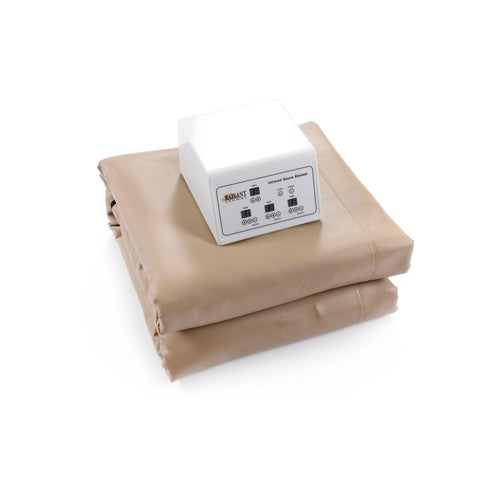 Infrared Heating Blanket with Temperature Control, Low-EMF Carbon Heaters, and Auto Shut-Off
