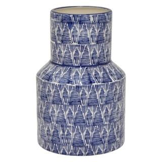 Three Hands Porcelain Vase - Blue & White