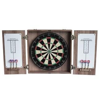 Winchester Dartboard & Cabinet Set - Driftwood