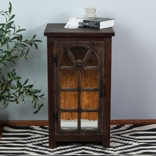 Mirror Door Small Console Cabinet