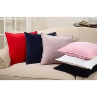 Cotton Velvet Down FIlled Throw Pillow