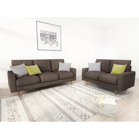 Cordell Tufted 2 Piece Living Room Set