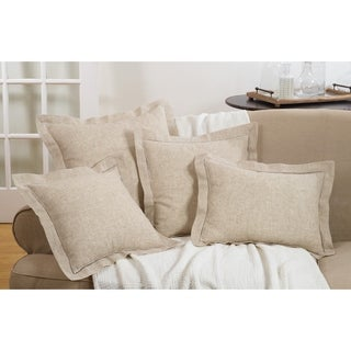 Down Filled Poly Blend Hemstitched Throw Pillow