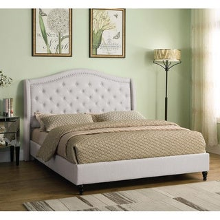 Best Master Furniture Upholstered Tufted Platform Bed