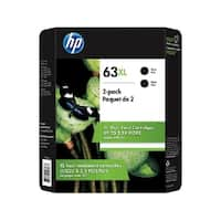 Original HP 63XL 2-pack High Yield Black Ink Cartridges,L0R43BN