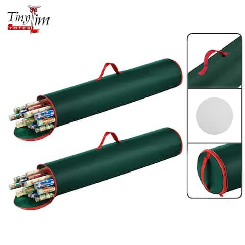 "Tim Totes Premium 2-Pack 40.5"" Gift Wrapping Paper Storage Bag"