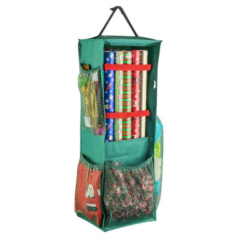 Tiny Tim Totes Four Sided Premium Hanging Gift Wrap and Bag Organizer