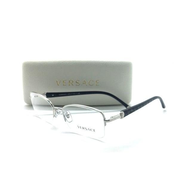 e1ca0674e4fd Versace MOD 1193 1000 Silver Semi Rimless Authentic Eyeglasses 51mm w/Case