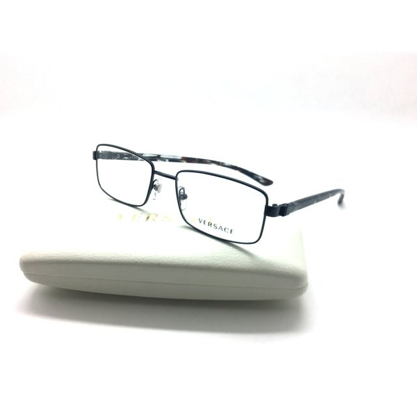 a56ec5034760 Shop VERSACE Metal Rectangle Black Frame Eyeglasses MOD.1212 1009 53-17 140  - Free Shipping Today - Overstock.com - 23463344
