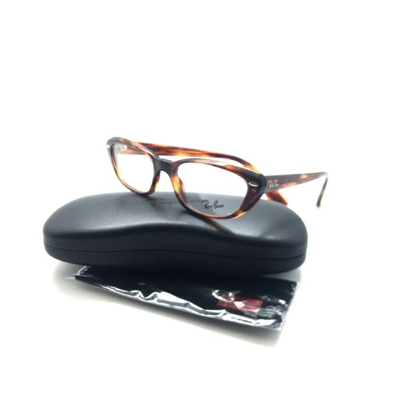 8e8ad6e9f9ee4 Shop Ray Ban Womens RB 5242 Eyeglasses 2144 Striped Havana Plastic ...