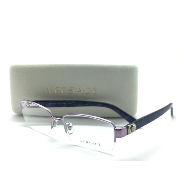 43fbdfa17a6 Shop Versace Semi Rimless Purple Marble 1185-B 1012 51mm Frames Eyeglasses  - Free Shipping Today - Overstock - 23463349