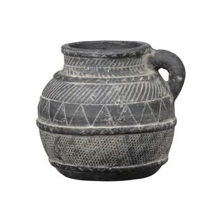 UTC54917 Ceramic Pot Washed Finish Gray