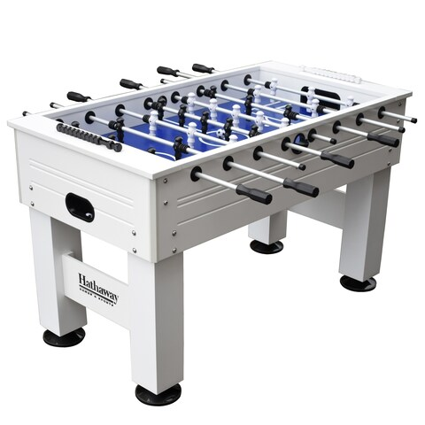 Highlander 55-in Outdoor Foosball Table with Waterproof Surface, Anti-Rust Rods, Ergonomic Handles, and Analog Scoring