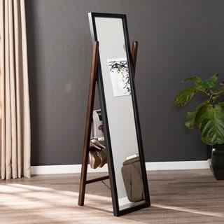 Copper Grove Tulln Black and Tobacco Leaning Ladder Mirror - Dark tobacco