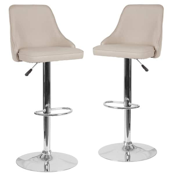 Admirable Shop 2 Pk Trieste Contemporary Adjustable Height Barstool Gmtry Best Dining Table And Chair Ideas Images Gmtryco