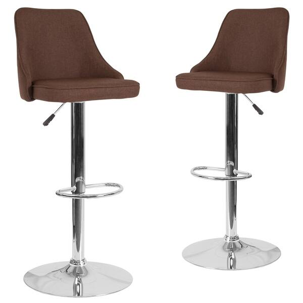 Marvelous Shop 2 Pk Trieste Contemporary Adjustable Height Barstool Gmtry Best Dining Table And Chair Ideas Images Gmtryco