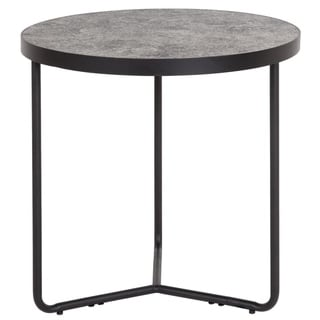 "19.5"" Round End Table in Concrete Finish - 19.25""W x 19.25""D x 19.5""H"