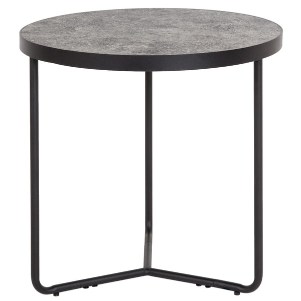 """19.5"""" Round End Table in Concrete Finish - 19.25""""W x 19.25""""D x 19.5""""H"""