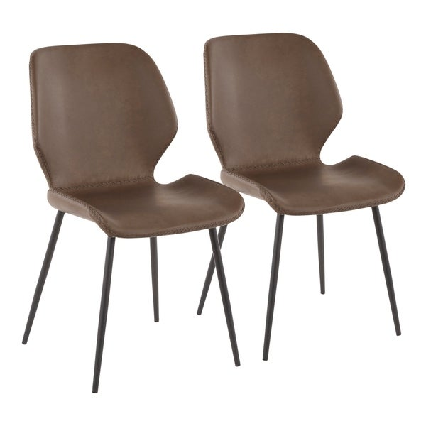 Carson Carrington Vihti Industrial Chair in Metal and Faux Leather (Set of 2). Opens flyout.