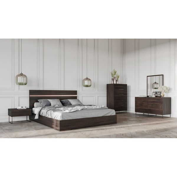 Shop Strozzi Italian Modern Dark Rovere Bedroom Set