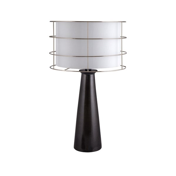 Shop Fangio Lighting S Black Ceramic 24 Inch Tapered Round Column