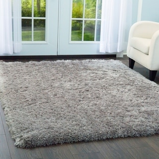 "Paramount Solid Gray Shag Area Rug by ELLE Home - 7'8""x10'2"""