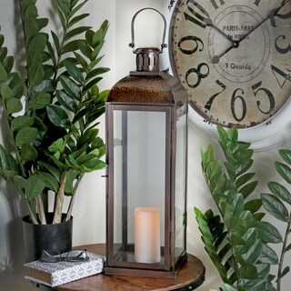25-Inch Metal and Glass Dome Top Lantern