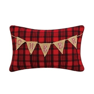 Cheer Garland Embroidered Pillow By Mistletoe and Co.