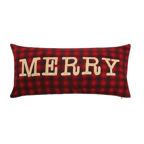 Merrt Enbroidered Applique Pillow