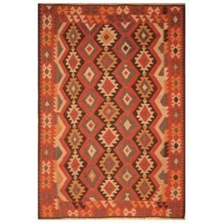 Handmade Mimana Wool Kilim (Afghanistan) - 6'6 x 9'4