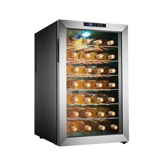 Electro Boss 28 Bottle Thermoelectic Wine Cooler Stainless Steel