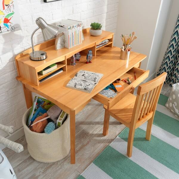Amazing Shop Kidkraft Avalon Desk With Hutch And Chair Natural Cjindustries Chair Design For Home Cjindustriesco