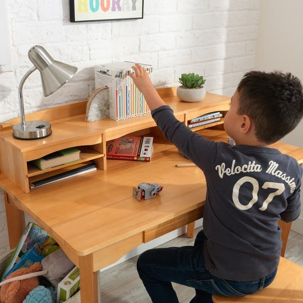 Terrific Shop Kidkraft Avalon Desk With Hutch And Chair Natural Cjindustries Chair Design For Home Cjindustriesco