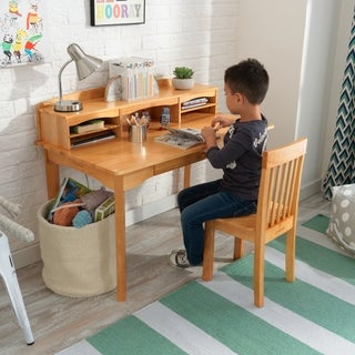 KidKraft Avalon Desk with Hutch and Chair - Natural