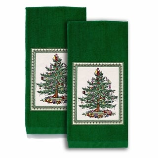 Spode Red Tree Kitchen Towels Set of 2