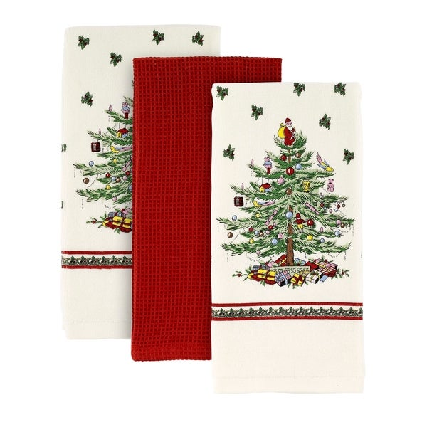 Spode Red Tree Kitchen Towels Set of 3